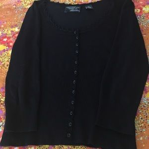 Cute button down black sweater. Xsmall